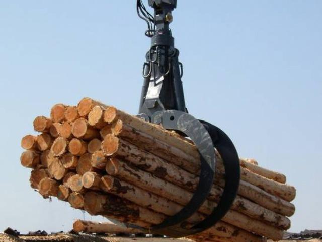 Delivery of Peiner SMAG hydraulic log grab HHG 1250.32