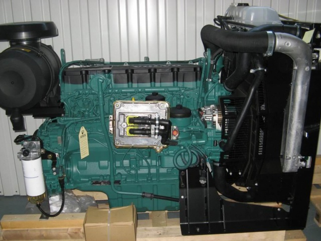 Delivery of the Volvo Penta TAD734GE industrial diesel engine