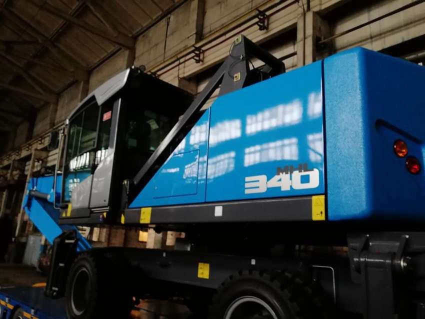 Delivery of mobile hydraulic material loader TEREX FUCHS MHL